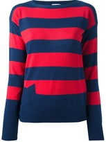 Tsumori Chisato Cats By striped loose fit knitted sweater
