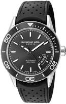 Raymond Weil Men's 'Freelancer' Swiss Automatic Stainless Steel and Rubber Casual Watch, Color: (Model: 2760-SR1-20001)