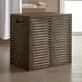 Crate & Barrel Dixon Large Bamboo Hamper with Liner