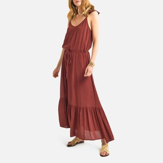 La Redoute Collections Ruffled Strap Maxi Dress