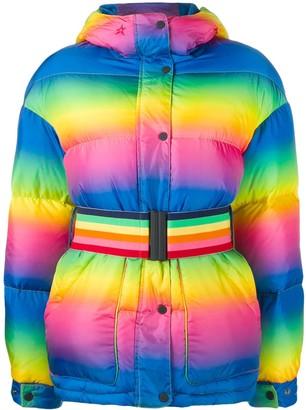 Perfect Moment Oversized Rainbow Puffer Jacket