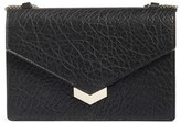 Jimmy Choo Leila Grainy Lambskin Leather Crossbody Bag - Black