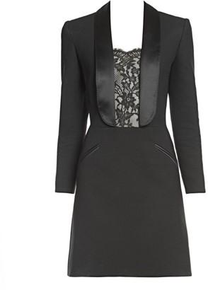 Alexander McQueen Lace Inset Blazer Dress