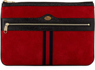 Gucci Ophidia Large Suede Clutch Bag