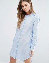 Vero Moda Cut Away Collar Shirt Dress
