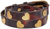 Tory Burch Metal Hearts Double Wrap Bracelet