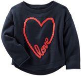 """Osh Kosh Toddler Girl Love"""" Heart Knit Sweater"""