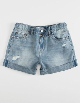 Levi's Light Wash Girls Girlfriend Shorty Shorts