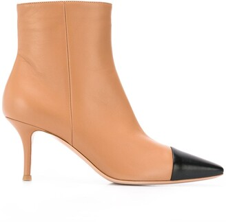 Gianvito Rossi two tone pointed ankle boots