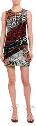 Missoni Multi Media Sleeveless Mini Fitted Dress