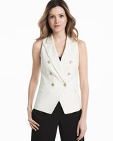 White House Black Market Basketweave Trophy Vest