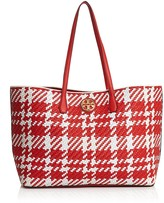 Tory Burch Duet Woven Leather Tote