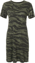 Current/Elliott short-sleeved camouflage dress - women - Cotton - 1