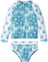 Masala Rashguard Set (Baby) - Turquoise - 3-6 Months
