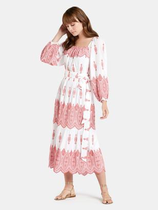 Marie Oliver Jessie Eyelet Midi Dress