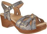 Dansko As Is Leather Adjustable Sandals - Season
