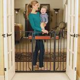Regalo Home Accents Black 38 inches Extra-Tall Baby Gate with 2 Included Extension Kits by