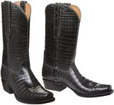 Lucchese BOOTMAKER Men's CHARCOAL NILE CROC 10.5
