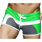 QIYUN.Z Mens Drawstring Boxer Brief Active Swimming Trunks Sports Swimwear Shorts Short