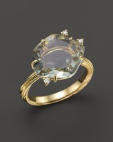 VIANNA BRASIL 18K Yellow Gold Ring with Prasiolite and Diamond Accents