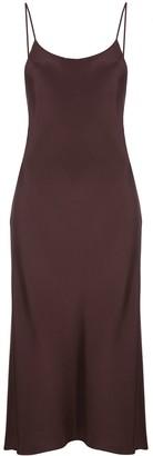Tibi Silk Slip Midi-Dress