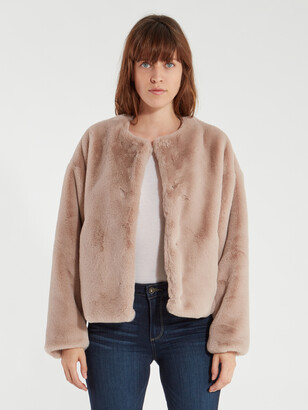 Sanctuary Starry Night Faux Fur Jacket