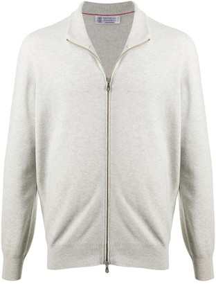 Brunello Cucinelli Zip-Up Cashmere Sweater