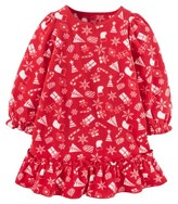 Toddler Girls' Fleece Holiday Night Gown - Red - Just One You Made by Carter's®