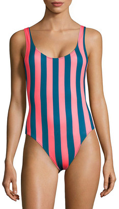 Solid & Striped One-Piece Striped Swimsuit