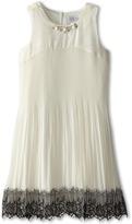 Us Angels Sleeveless Empire w/ Pleated Skirt & Lace (Big Kids)