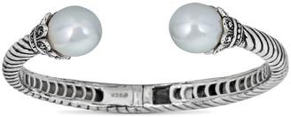 BELPEARL Silver 12Mm South Sea White Bangle Bracelet