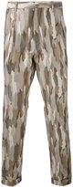 Cerruti camouflage slim-fit trousers - men - Cotton - 46