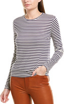 Vince Midi Stripe Silk-Blend T-Shirt
