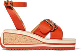 Etoile Isabel Marant Zena leather wedge sandals