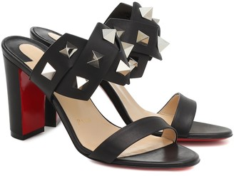 Christian Louboutin Tina in the Desert 85 leather sandals