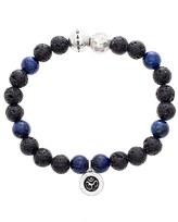 Steve Madden Men's Lapis Lazuli & Lava Rock Bead Bracelet