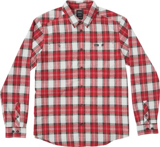 RVCA Men's Bone Flannel Long Sleeve Woven Shirt