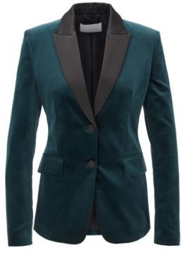 BOSS Tuxedo-inspired regular-fit jacket in Italian velvet