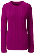 Classic Women's Plus Size Cable Shaker Sweater-Soft Royal