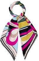 Emilio Pucci Abstract Print Silk Shawl