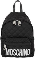 Moschino Small Logo Quilted Nylon Backpack