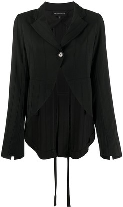 Ann Demeulemeester Ribbed Single Breasted Blazer