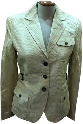 Brioni Beige Python Jacket for Women