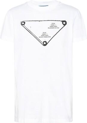 Prada triangle-logo crew-neck T-shirt