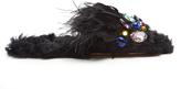 Miu Miu Embellished eco-shearling slides