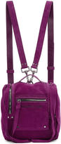 McQ Purple Suede Mini Convertible Box Backpack