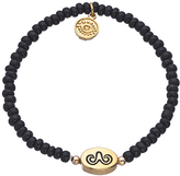 Blee Inara Gold and Black Beaded Double Sided Zodiac Charm Bracelet