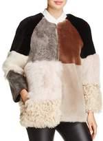 Maximilian Furs Patchwork Lamb Shearling Coat - 100% Exclusive
