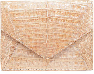 Judith Leiber Envelope XS Cayman Crocodile Clutch Bag