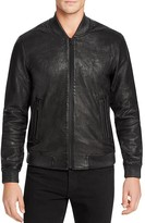 Joe's Jeans Leather Bomber Jacket